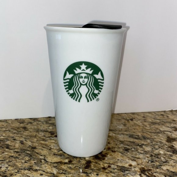 2014 STARBUCKS 10 Oz Travel Coffee Mug Ceramic